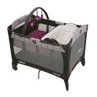 Graco Nyssa Grey and Purple Pack 'n Play with Reversible Napper & Changer