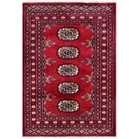 Herat Oriental Pakistani Hand-knotted Tribal Bokhara Wool Rug (2'2 x 3'1) - 2'2 x 3'1