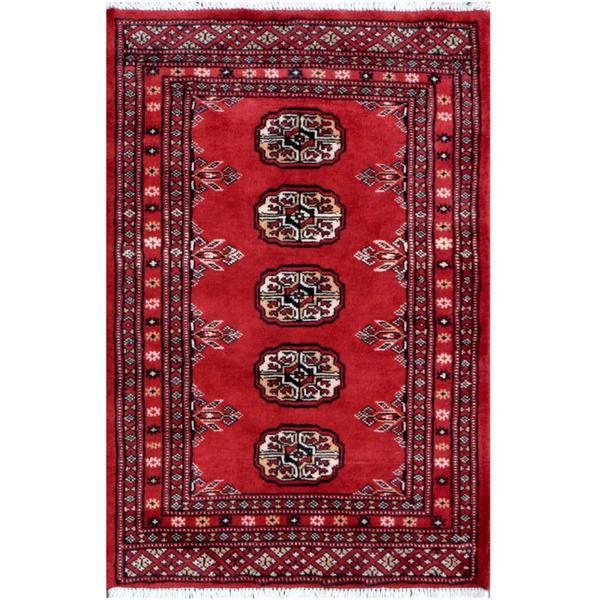 Handmade Herat Oriental Pakistani Tribal Bokhara Wool Rug (Pakistan) - 2' x 3'