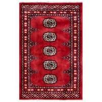 Herat Oriental Pakistani Hand-knotted Tribal Bokhara Wool Rug (2'1 x 3'1) - 2'1 x 3'1