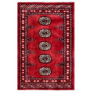 Handmade Herat Oriental Pakistani Tribal Bokhara Wool Rug (Pakistan) - 2'1 x 3'1