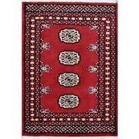 Herat Oriental Pakistani Hand-knotted Tribal Bokhara Wool Rug (2'1 x 2'11) - 2'1 x 2'11