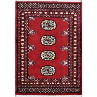 Handmade Herat Oriental Pakistani Tribal Bokhara Wool Rug (Pakistan) - 2'1 x 2'11