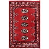 Herat Oriental Pakistani Hand-knotted Tribal Bokhara Wool Rug (2' x 3') - 2' x 3'