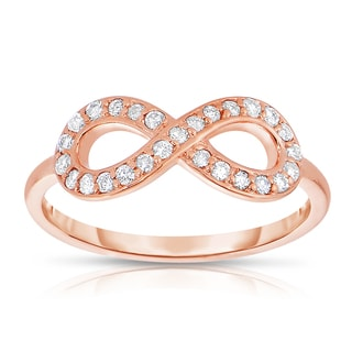 Eloquence 14k Rose Gold 1/4ct TDW Diamond Infinity Ring