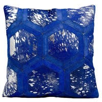 Michael Amini Metallic Hexagon Ink/Silver Throw Pillow (20-inch x 20-inch) by Nourison