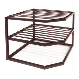 Seville Bronze Two-tier Corner Shelf Organizer