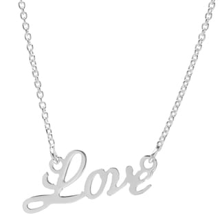 Sterling Silver Love Word Necklace