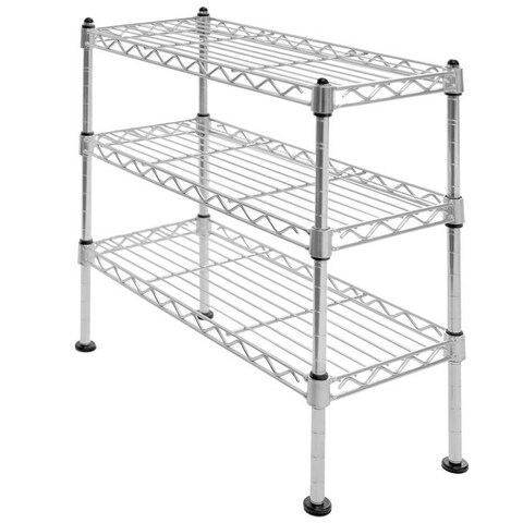 Seville Classics 3-Tier UltraZinc Cabinet Organizer, 7.5x17.5x18.5