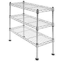 Seville Classics UltraZinc Steel Mini 3-tier Shelf Organizer
