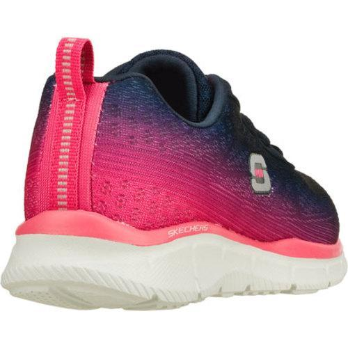 Women's Skechers Equalizer Oasis Navy/Pink - Thumbnail 2