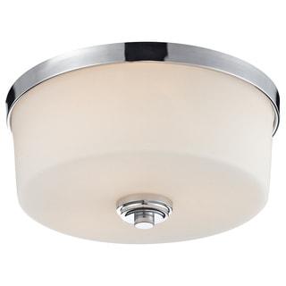 Z-Lite Lamina Chrome 3-light Flush-mount Light