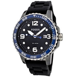 Fossil Men's GTS Diver Black Dial Mineral Watch