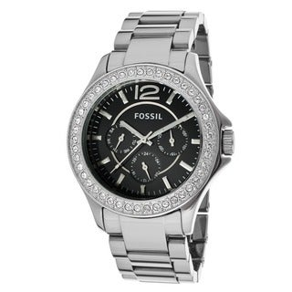 Fossil Women's 'Riley' Chrome Ceramic Bracelet Watch