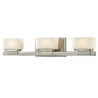 Avery Home Lighting Gaia 3-light Matte Opal Glass Brushed Nickel Vanity Fixture