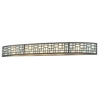 Z-Lite Elea 5-light Bronze Vanity Fixture with Matte Opal Glass