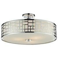 Avery Home Lighting Elea 3 Light 20 5 Inch Semi Flush Mount Chrome Ceiling