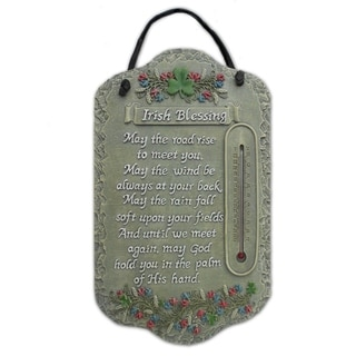 "'Irish Blessing"" by Trendy Decor 4U Resin Sculpted Indoor/ Outdoor Plaques"