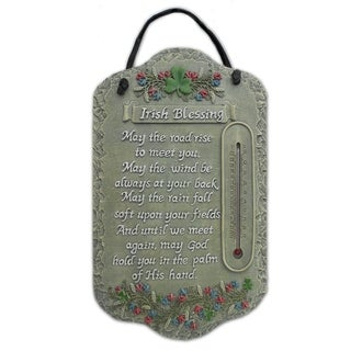 "Welcome Sign, ""Irish Blessing"" Porch Decor, Resin Slate Plaque, Ready To Hang Decor"
