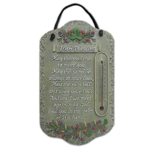 "Welcome Sign, ""Irish Blessing"" Porch Decor, Resin Slate Plaque, Ready To Hang Decor. Opens flyout."