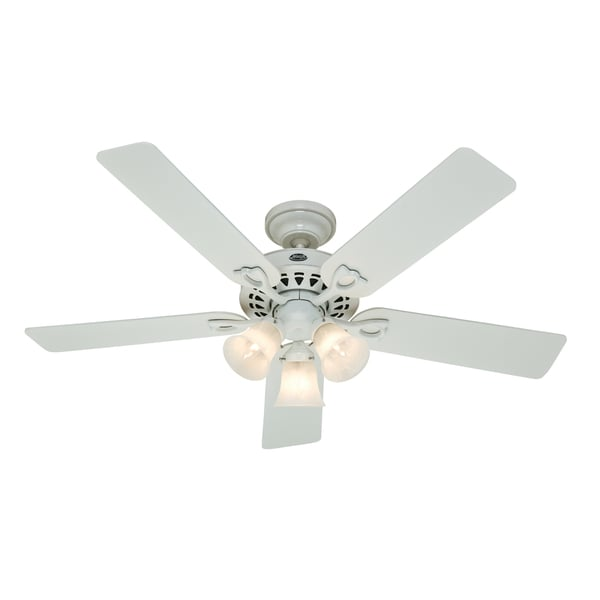 Hunter Fan 'Sontera' White 52-inch Ceiling Fan - Free Shipping Today ...