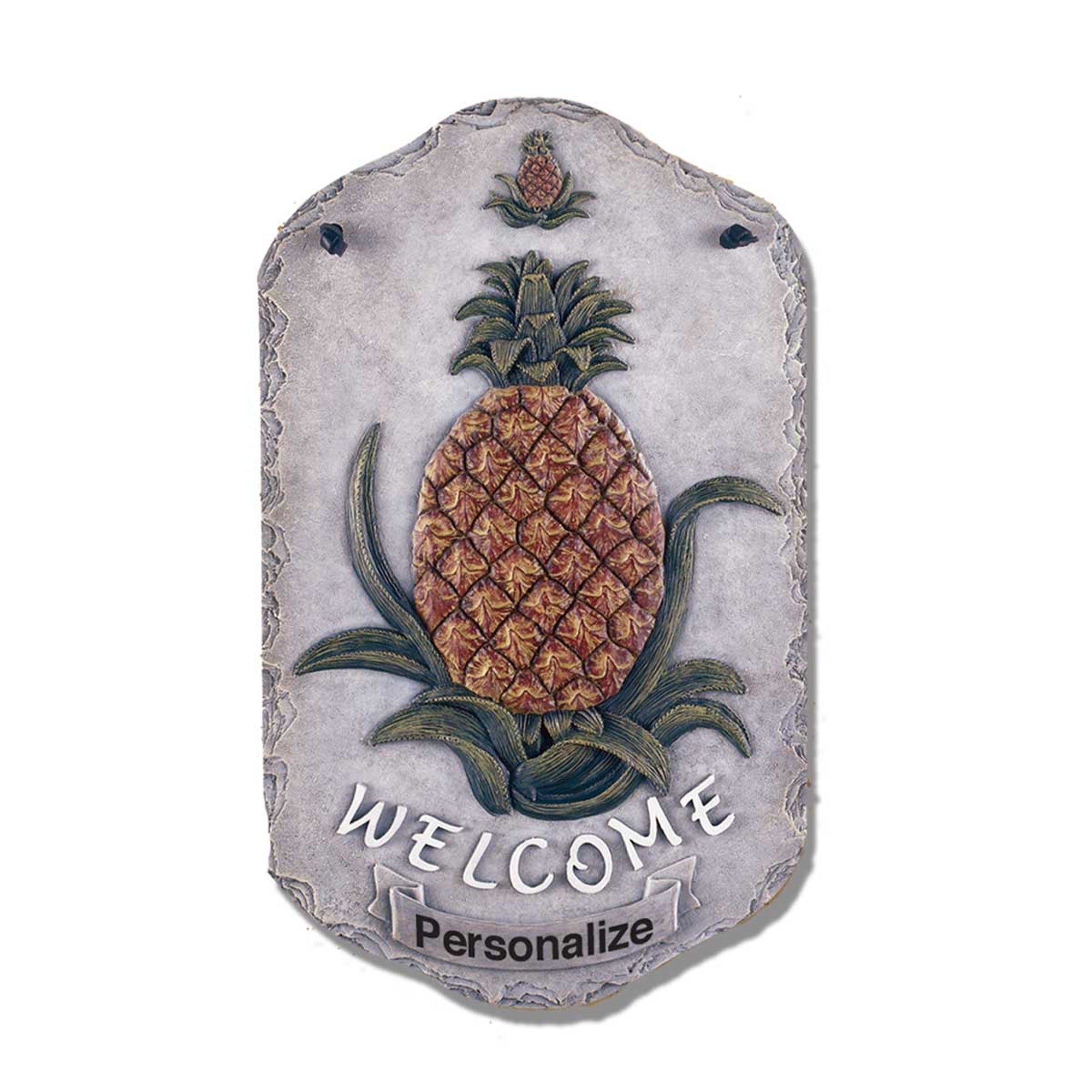 """Welcome Sign, """"Pineapple"""" Porch Decor, Resin Slate Plaque..."""