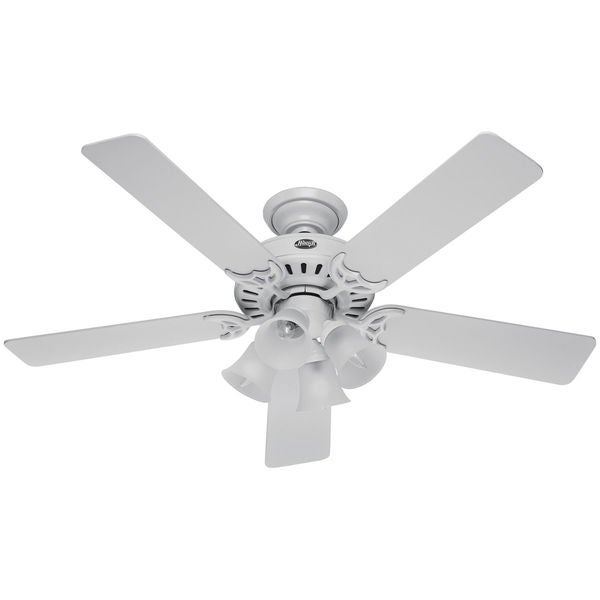 Hunter Fan Studio Series 52-inch Ceiling Fan with 4-Light LED Light Kit and Pull Chain. Opens flyout.