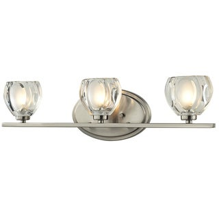 Brushed Nickel 3-light Vanity Light