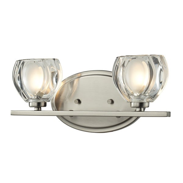 Shop Hale 2 Light Brushed Nickel Vanity Light Silver Free Shipping Today Overstock 8973217