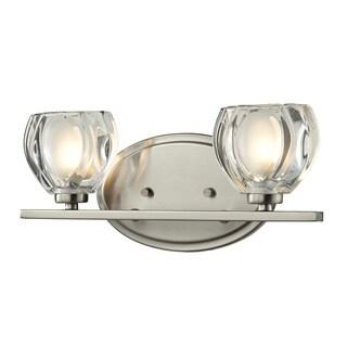 Hale 2-light Brushed Nickel Vanity Light