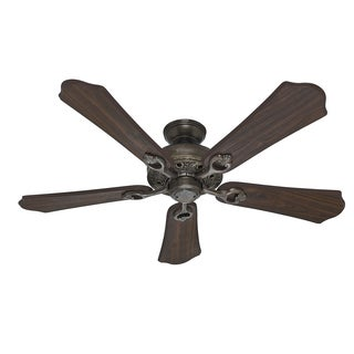 52-inch Hunter Walnut 5-blade Kingsbury Roman Bronze Fan