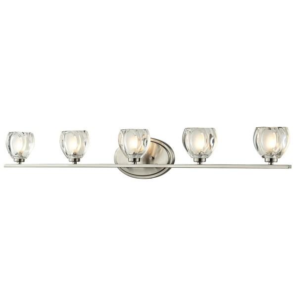 Z-Lite Hale 5-light Brushed Nickel Vanity Light