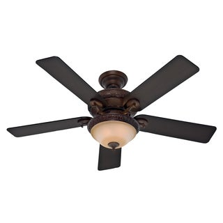 Hunter Fan 52-inch Vernazza Brushed Cocoa 5-blade Aged Barnwood Ceiling Fan