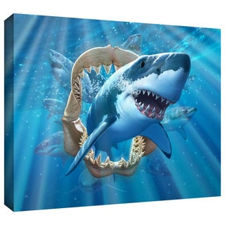 ArtWall Jerry LoFaro 'Great White Shark' Gallery-Wrapped Canvas