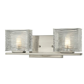 Z-Lite Jaol 2-light Brushed Nickel Vanity Fixture