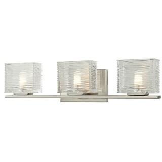 Jaol 3-light Brushed Nickel Vanity Fixture