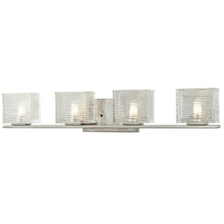 Avery Home Lighting Jaol 4-light Brushed Nickel Vanity Fixture
