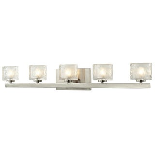 Rai Brushed Nickel 5-light Vanity Light with Clear Glass