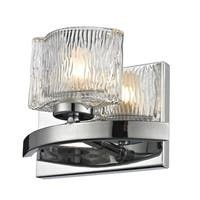 Rai Chrome/ Textured Glass 1-light Vanity Light