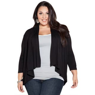 Sealed With a Kiss Women's Plus Size Black Open Cardigan|https://ak1.ostkcdn.com/images/products/8973425/Sealed-With-a-Kiss-Womens-Plus-Size-Black-Open-Cardigan-P16181486.jpg?impolicy=medium