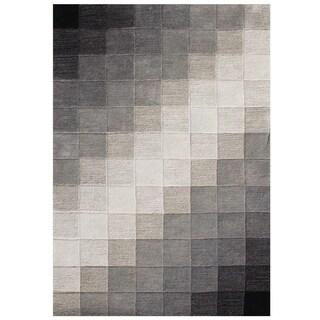 Handmade Alliyah Black Wool Area Rug (8' x 10')