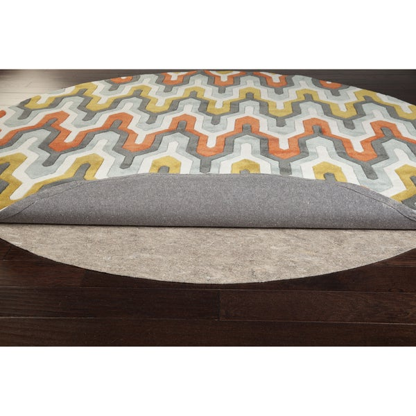 Braided Rug Pad: Ultra Premium Felted Reversible Dual Surface Non-Slip Rug