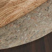 Ultra Premium Felted Reversible Dual Surface Non-Slip Rug Pad (6' Round)