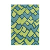 Handmade Alliyah Light Aspen Green Wool Rug (5' x 8') - 5' x 8'