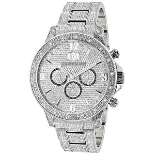 Luxurman Men's 1.25-carat Fully Iced Out Diamond Watch