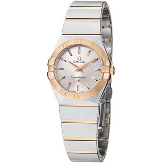 Omega Women's 123.20.27.60.02.001 'Constellation' Silver Dial Two Tone Watch