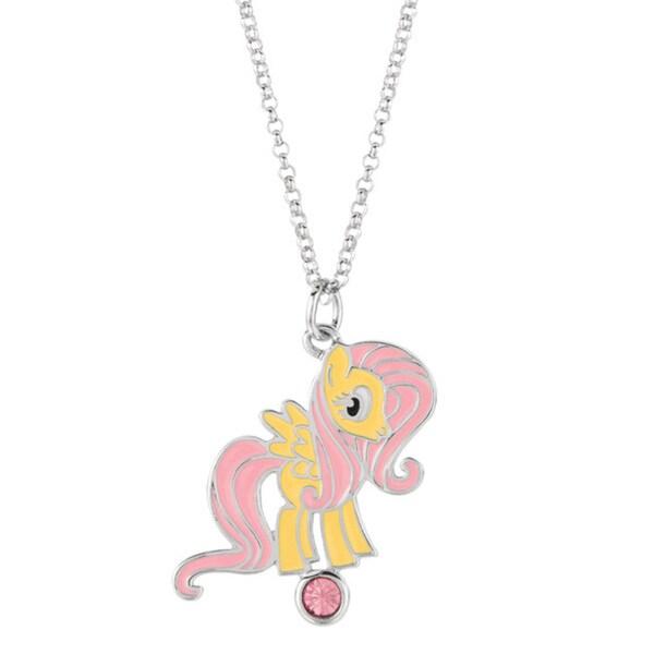 Silverplated Fluttershy My Little Pony Pendant Necklace