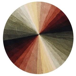 Alliyah Handmade Black New Zealand Blend Wool Rug (6' Round)