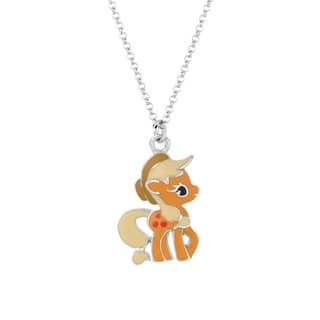 Silverplated Applejack My Little Pony Pendant Necklace|https://ak1.ostkcdn.com/images/products/8973661/Silverplated-Applejack-My-Little-Pony-Pendant-Necklace-P16181681.jpg?impolicy=medium