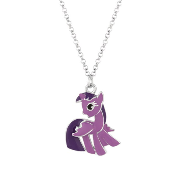 Silverplated Twighlight Sparkle My Little Pony Pendant Necklace